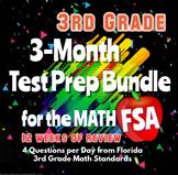 3rd Grade Math FSA Spiral Review 3-Month DISTANCE LEARNING