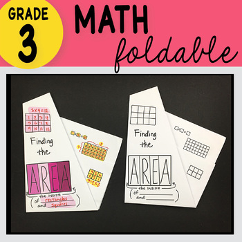 3rd Grade Math Finding the Area Foldable by Math Doodles