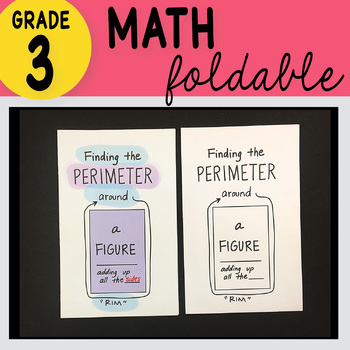 Doodle Notes - 3rd Grade Math Finding the Perimeter Foldable