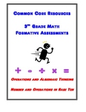 3rd Grade Math Formative Assessments for Common Core Standards