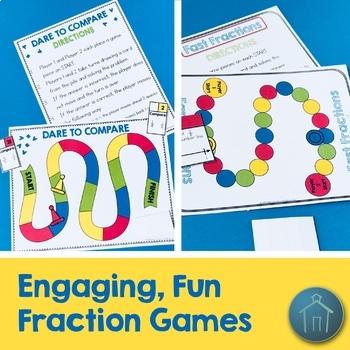 3rd Grade Math Fraction Activities Set