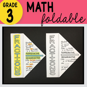 3rd Grade Math Fractions Foldable by Math Doodles