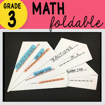 3rd Grade Math Fractions On the Number Line by Math Doodles