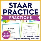 3rd Grade Math STAAR Fractions TEKS 3.3F 3.3H 3.3A 3.3B 3.3C 3.3D 3.3E 3.3G