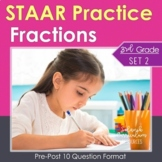 3rd Grade Math STAAR Practice Set 2: Fractions ~TEKS & Common Core Alignment