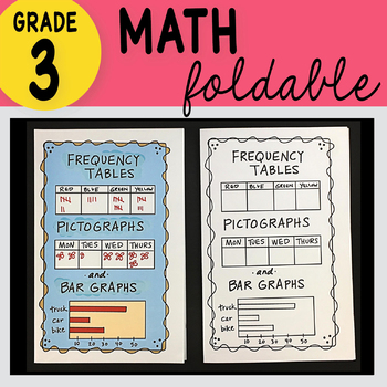 3rd Grade Math Frequency Tables, Pictographs & Bar Graphs Foldable Math Doodles