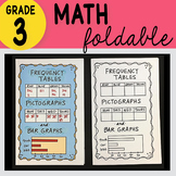 Doodle Notes - 3rd Grade Math Frequency Tables, Pictograph