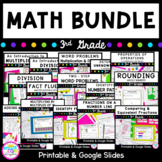 3rd Grade Math GROWING Bundle- Print & Google Slides