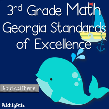 3rd Grade Math GSE Georgia Standards of Excellence Posters -Nautical