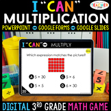 3rd Grade Math Game DIGITAL | Multiplication | Distance Learning