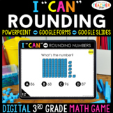 3rd Grade Math Game DIGITAL Rounding to the Nearest 10 & 100   Distance Learning
