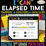 3rd Grade Math Game DIGITAL | Telling Time & Elapsed Time