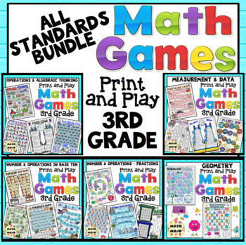 3rd Grade Math Games: All Standards Bundle