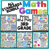 3rd Grade Math Games: All Standards Bundle