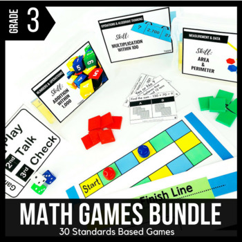 3rd Grade Math Games and Centers BUNDLE - Ready Set Play