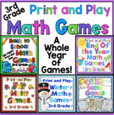 3rd Grade Math Games For the Entire Year Bundle