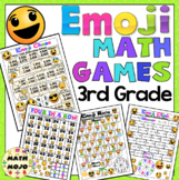 3rd Grade Math Games and Centers - Emoji Theme