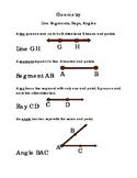 3rd Grade Math Geometry Lines Segments Rays Angles Critical Thinking Print 2pgs