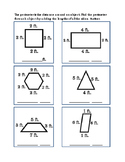 3rd Grade Math Geometry Perimeter Addition Measure Feet Shapes Objects Printable