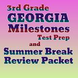 3rd Grade Math Georgia Milestones Test Prep and Summer Break Packet BUNDLE