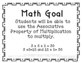 3rd Grade Math Objective Poster: Associative Property (aligned to Common Core)