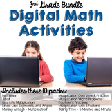 Google Classroom 3rd Grade Math Bundle
