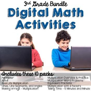 3rd Grade Math Google Activities Bundle