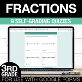 3rd Grade Math Google FORMS - Fractions: 9 Paperless Activities