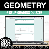 3rd Grade Math Google FORMS - Geometry 6 Paperless Activities