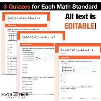 3rd Grade Math Google FORMS Bundle of Assessments