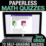 3rd Grade Math Google FORMS | Assessments Google Classroom Math Test Prep