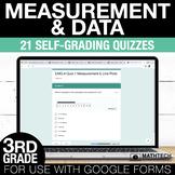 3rd Grade Math Google FORMS - Measurement & Data: 21 Paperless Activities