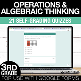Multiplication & Division Google Form Math Assessments 3rd Grade Math Test Prep