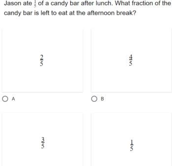 3rd Grade Math Google Form Assessment Unit Fractions