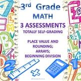 3rd Grade Math Google Form Assessments Place Value, Arrays, Beginning Division