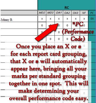 3rd Grade Math Gradebook 2nd trimester