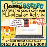 3rd Grade Math Halloween or Fall Multiplication Digital Es