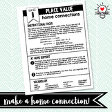 3rd Grade Math Home Connection parent communication tool