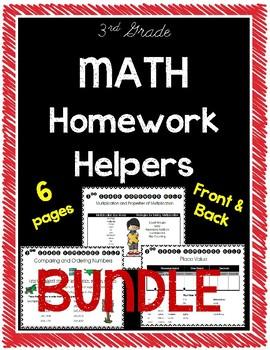 3rd Grade Math Homework Helpers Bundle