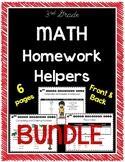 3rd Grade Math Homework Helpers Set