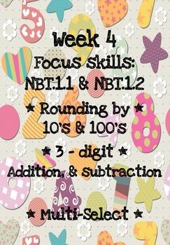 3rd Grade Math Homework WEEK 4 - NBT.1.1 & NBT.1.2