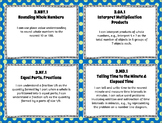 "3rd Grade Math ""I CAN"" Statements for Common Core State Standards (Third)"