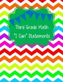"3rd Grade Math ""I Can"" Statements"