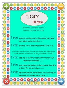 "3rd Grade Math: ""I Can"" Statements"