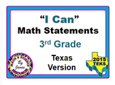 "3rd Grade Math ""I Can"" Statements"