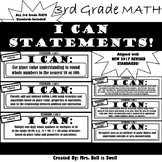 "3rd Grade Math ""I Can Statements"" (Common Core Aligned) BL"