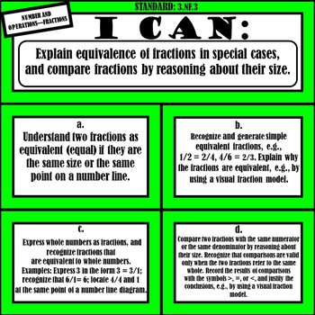 """3rd Grade Math """"I Can Statements"""" (Common Core Aligned)"""