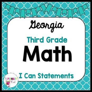 3rd Grade Math: I Can Statements-Georgia