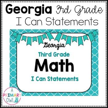 3rd Grade Georgia Math Standards: I Can Statements