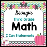 3rd Grade Georgia Standards Math: I Can Statements